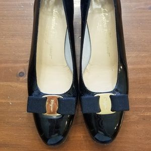 Black Patent Leather Ferragamo Heels